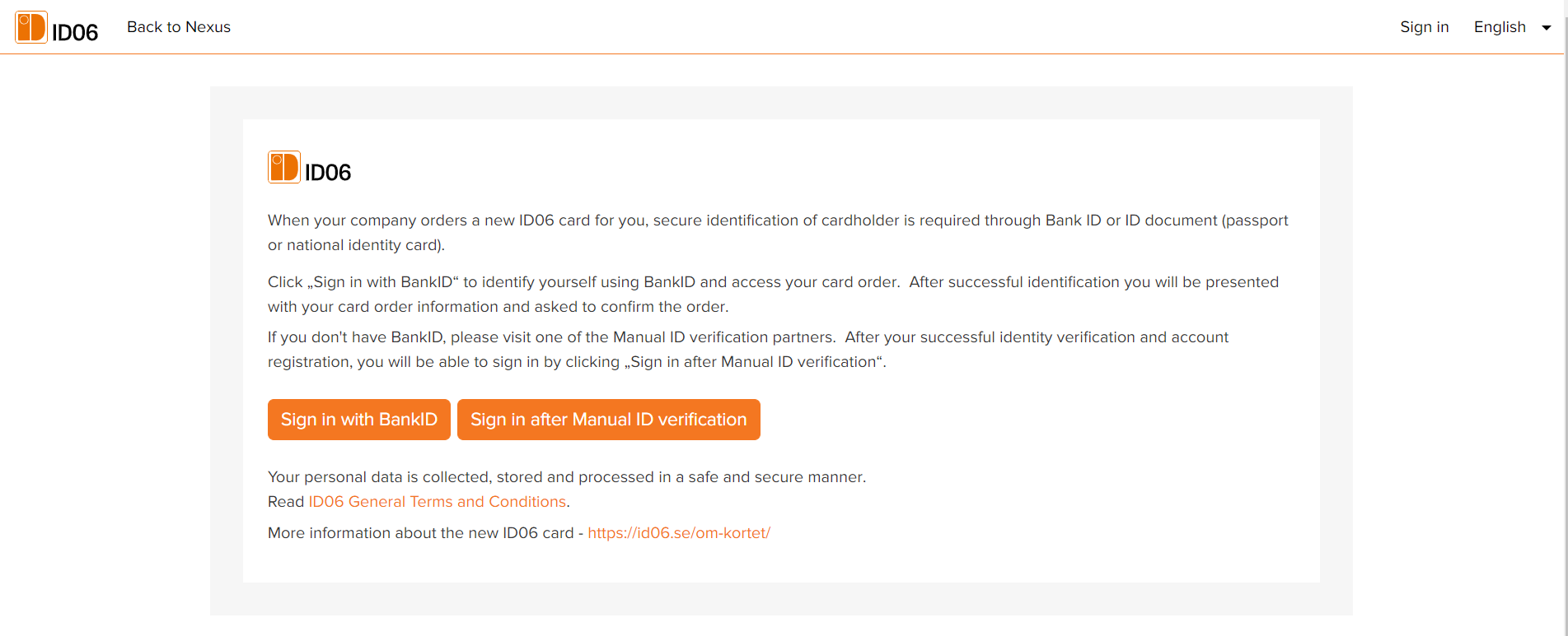 Sign in after manual ID verification